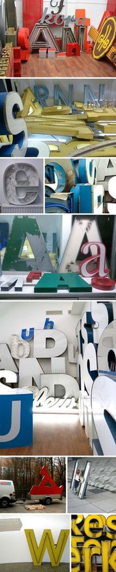 Berlin Museum on Typography, signage, letters. Type museum, Museum of Letters, Buchstaben Museum,