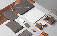 Vesha Law - for brands.™ #business #card #print #copper #stationery #letterhead #foil