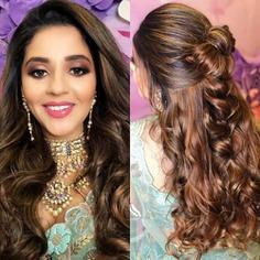 Ribbon Back Wavy Bridal Hairstyle
