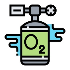 See more icon inspiration related to oxygen, tank, healthcare and medical, breathing, oxygen tank, health care, hospital, storage and medical on Flaticon.