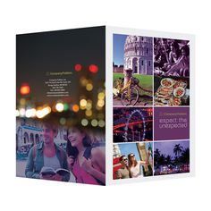 Travel Presentation Folder PSD Template (Front and Back View) #psd #design #presentation #folders #bokeh #photography #photoshop #purple #template #folder
