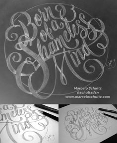Born of a Shameless Mind by Marcelo Schultz #typography