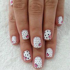 70+ Heart Nail Designs #heart #nail #designs