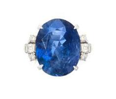 Burma Saphir-Diamant-Ring