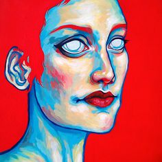 Curiosities - Ania Gareeva #red #woman #eyes #gareeva #ania #blue #curiosities