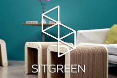 Reduce your carbon footprint with SITGREEN, cardboard #furniture made #comfortable and entirely out of 100% #recyclable materials. #productd