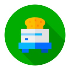 See more icon inspiration related to food and restaurant, kitchenware, breads, toaster, toast, breakfast, kitchen and food on Flaticon.