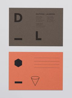 Daphna Laurens by George&Harrison #graphic design #print #card