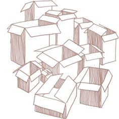 Pack it up, pack it in... #ART #BOXES #CARDBOARD #DRAWING #ILLUSTRATION #MARKER #PACKING #SHARPIE