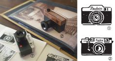 DecoleCameraStamp_500.jpg 500×269 pixels #stamp #camera #print #design #illustration