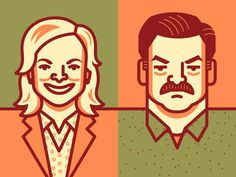 Parks & Rec #elias #stein #illustration
