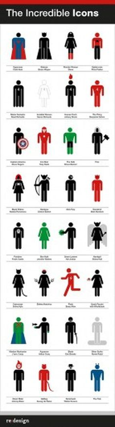 The Incredible Icons « re:blog #minimalist #interpretation #icons #superhero