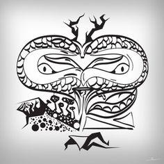 Scub1 by ~Robinvaneijk #scrub #vector #robinvaneijk #snake #art