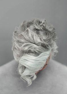 Agnes Lloyd-Platt: Ally Capellino SS15 Lookbook #hair #curl #grey