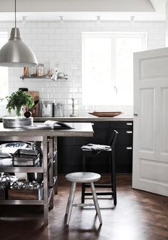 kitchen #kitchen #industrial #white