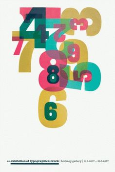 Ian Gabb : work #print #design #graphic #multicolor #poster #numbers