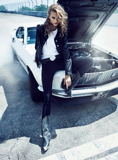 Anna Selezneva by Lachlan Bailey for Vogue Paris #fashion #photography #car #girl