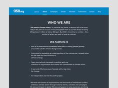350 About Page #design #ui #grid #about #minimal #blue #web #typography