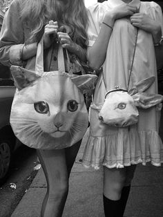 Terry Johnson #fashion #bunny #cat #bags