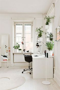 Workspace Inspiration #interior design #minimal #white #workspace