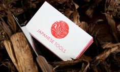 Japanese Tools #stamp #red #business #branding #card #print #logo