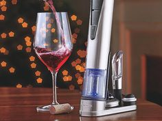 Electric Blue 1 Wine Opener & Preserver Set #tech #flow #gadget #gift #ideas #cool