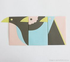 Cutesign - A playful set of Jiro bird envelopes by Japanese... #bird