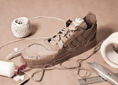 Adidas Originals with Cardboard2 #art #cardboard #sneakers #paper #adidas #originals