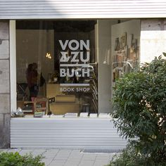 VON & ZU BUCH Window Display #branding #shop #display #books #book #store #identity #retail #window #logo