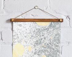 Handmade Marble Print #marble #marbling #papermarbling #frame #wallart #print