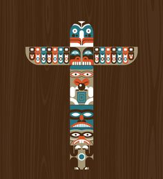TOTEM.jpg #wood #bird #indian #native #beaver #totem pole #northwest