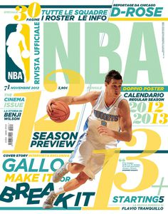 Rivista NBA | Covers 2012 13 by Francesco Poroli #cover #editorial #sport #nab