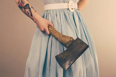 The Axe Wife #ink #tattoo #photography #wife #axe