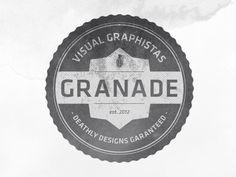 Dribbble - Granade by clrq #logo #vintage #branding