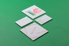 Parcella by Ministry #graphic design #business cards #green #cards