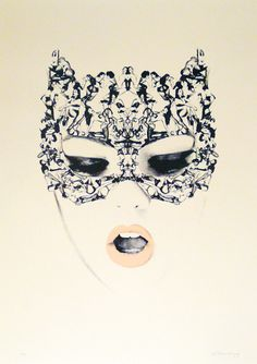 MEOW #screen #print #face #woman