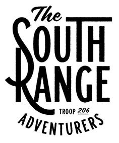 The South Range by Simon Walker #type #typo #script #lettering #font #logo #brand #mark