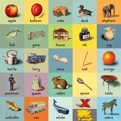 Alphabet Art Print by Ladybird Books Easyart.com #print #design #retro #artprints #vintage #art #bookcover