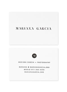 Mariana Garcia Photography #lettering #business #card #logo #typography