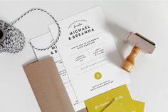 Wedding Invites | Breanna Rose #wedding invite #invite #typography #layout #minimalism