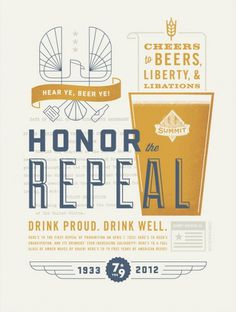Summit Brewing 2012 Repeal Poster #beer #poster