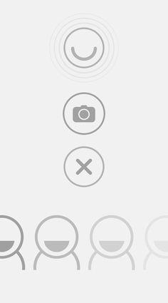 Smile - iconography #ui #icons #circles #grey