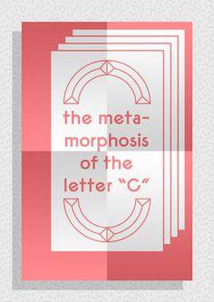 Pablo Abad - Re_Type Expo: reinterpretation of the letter C #poster #typography