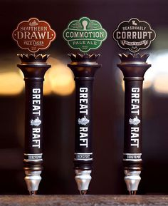 Great Raft Brewing Tap Handles #packaging #beer #taphandles