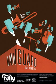 The Vanguard Jazz Orchestra on Behance #poster #jazz