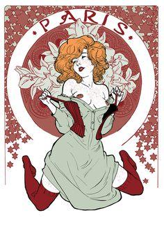 yannick corboz illustration #illustration #paris #art noveau
