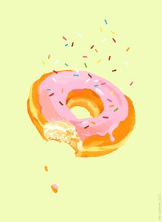 fig. 06.01.12DONUTHappy National Donut Day everyone! Today we celebrate the Salvation Army #food #illustration kali