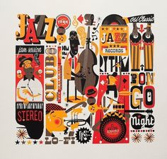 Jazzgrafía on the Behance Network #music #jazz #print #poster