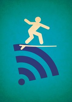 Pictogram illustrations on the Behance Network #surfing