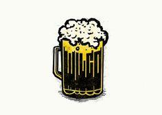 Logo / Identity - Mikey Burton / Designy Illustration #beer #cheers